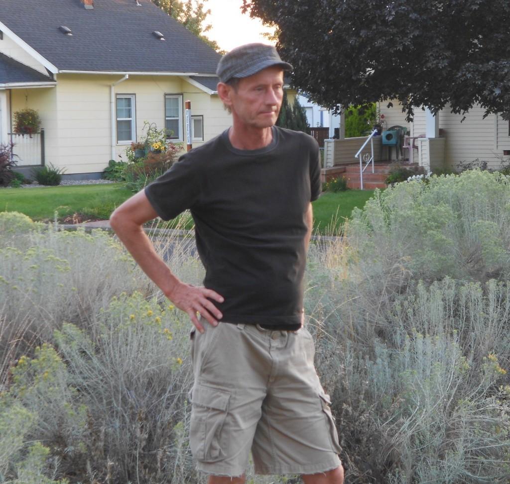 Jim in yard
