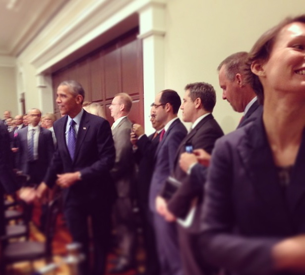 Ruby Redpepper with Pres. Obama